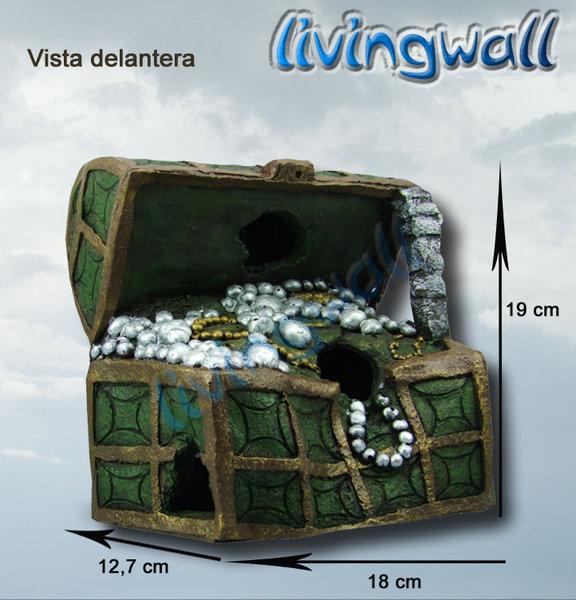 Decoracion Griega Para Acuarios ~ Decoracion de acuarios Cofre del tesoro  Livingwall Acuarios de