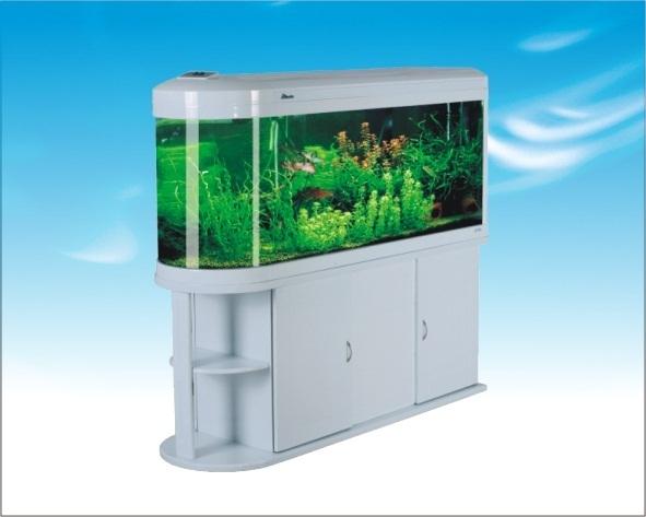 Acuarios panor mico 100 cm y 210 litros livingwall hus100w for Mueble para calentador de agua