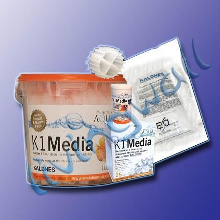 Kaldnes k1 media material filtrante para estanques for Material para estanques