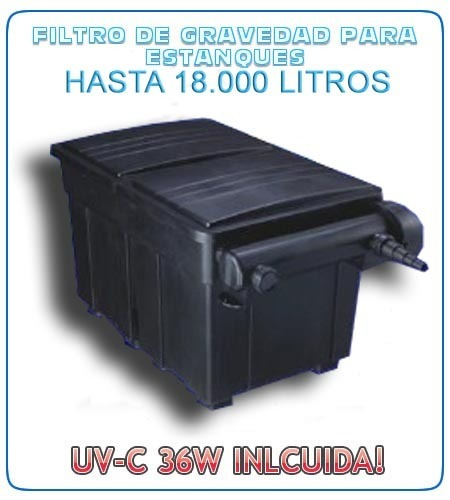 Aquaking filter box 210l 36w uvc for ponds for Large pond filter box