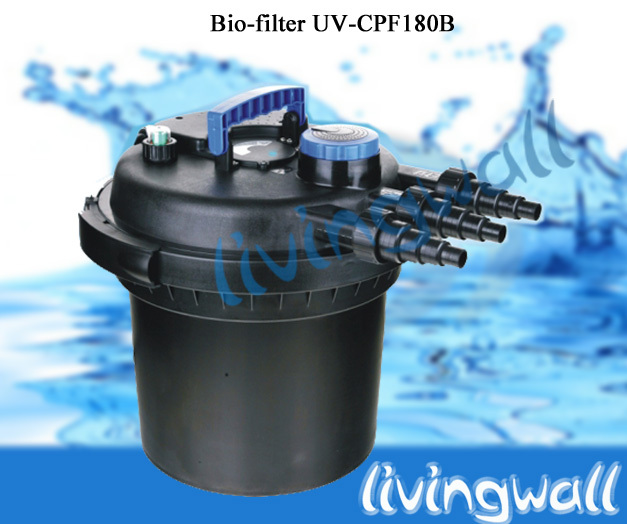 Filtro presion estanque cpf 180 con l mpara uv 11w for Estanque 3000 litros