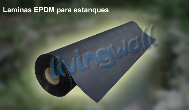 L mina epdm el stica para construcci n de estanques 6 10m for Precio de estanques