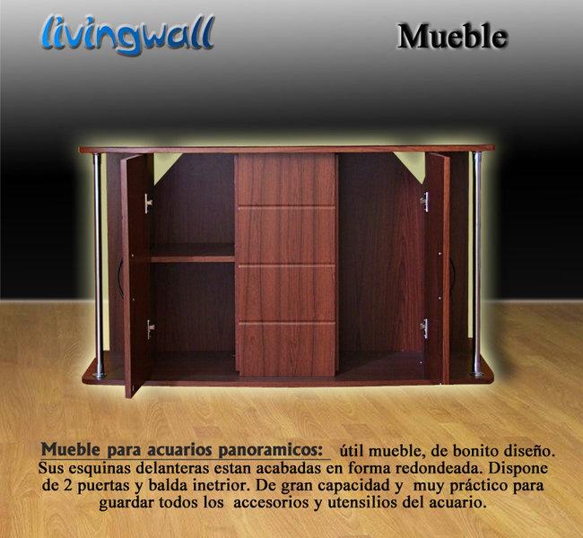 Mueble para acuarios panoramicos 127cm cerrezo adorne su for Mueble acuario