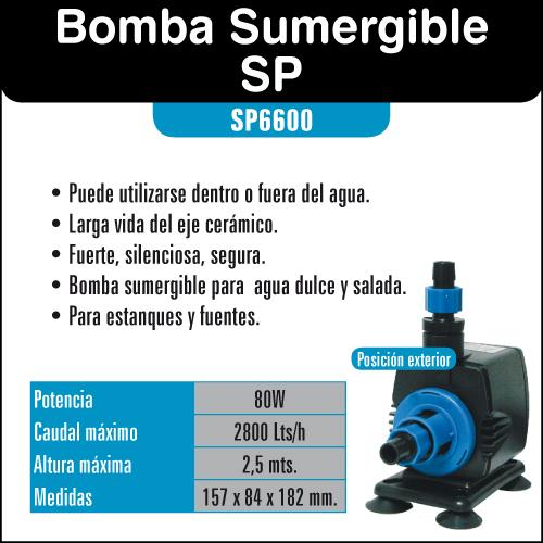 Bomba De Agua 2800l H Resun Sp6600 Bomba Para Estanque Y