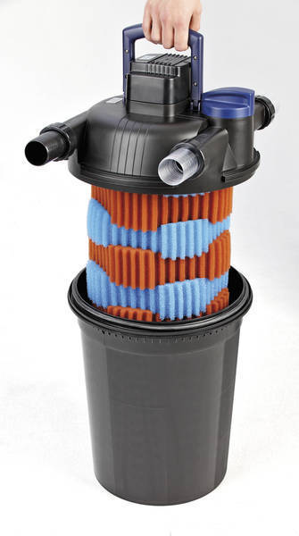Filtro a presi n oase filtoclear 16000 con uv 24w para for Aireadores para estanques piscicolas