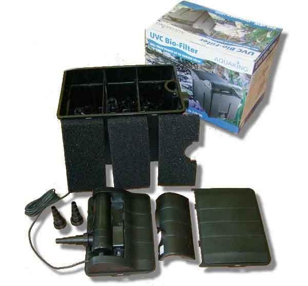 Filter kit uv c 18w pump hose pond bacteria ponds for Pond filter bacteria