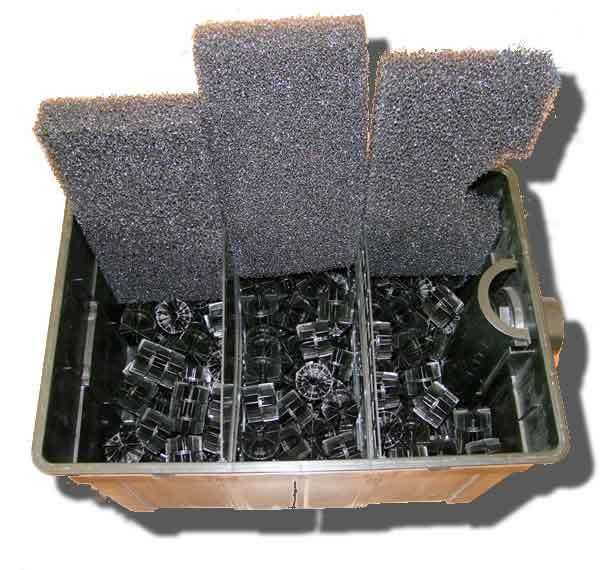 Kit filtro uv c 18w con bomba manguera y bacterias estanque for Filtro para estanque