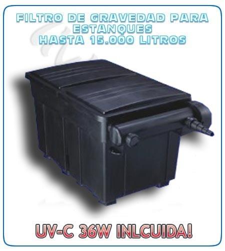 Kit filtro uv c 36w bomba manguera bacterias estanques for Filtro para estanque pequeno