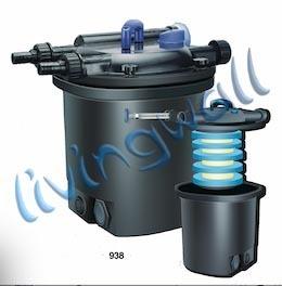Kit filtro de estanque a presi n jebo 938 uv 13w bomba for Filtro uv estanque