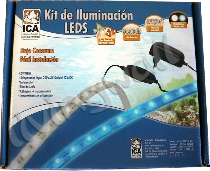 kit tira led para acuarios luz color azul varias medidas