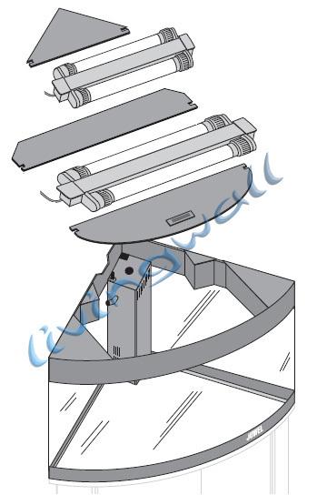 kit juwel trigon canto aqu rio 190 litros com arm rio opcional. Black Bedroom Furniture Sets. Home Design Ideas