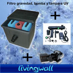 Kit Gravity pond filter Jebo 50 IA.Pond filter with UV18w-pump