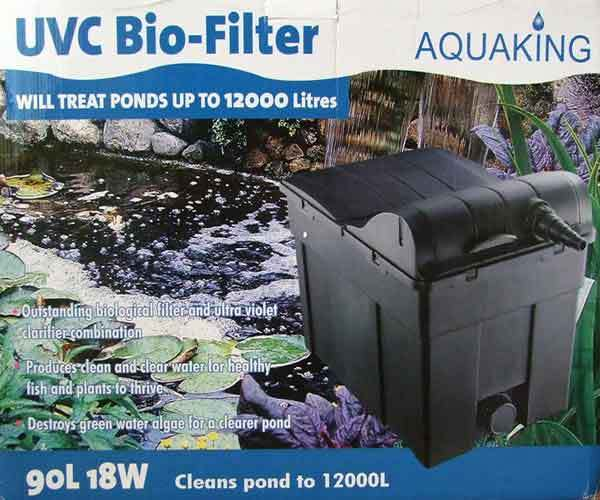 Filtro de estanque gravedad aquaking 90l con lampara uv c for Luz uv para estanques