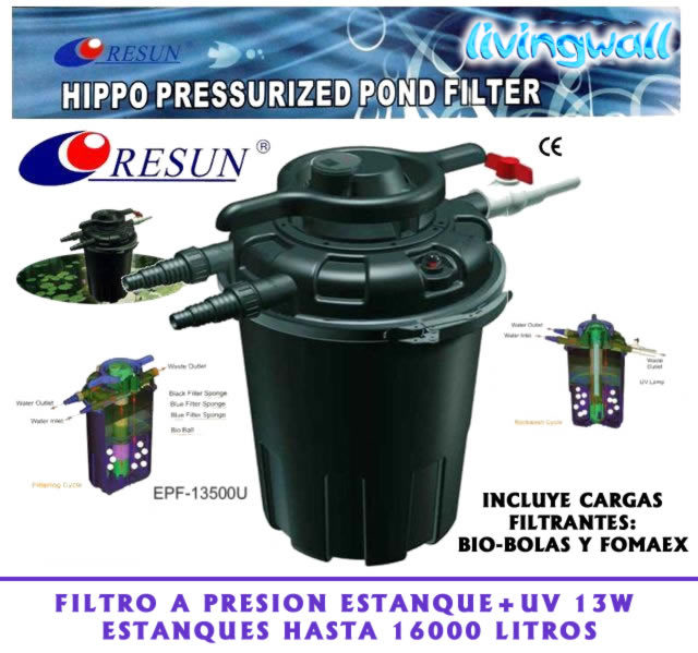 Pressure Pond Filter Uv 13w For Ponds Up 16000l Pond