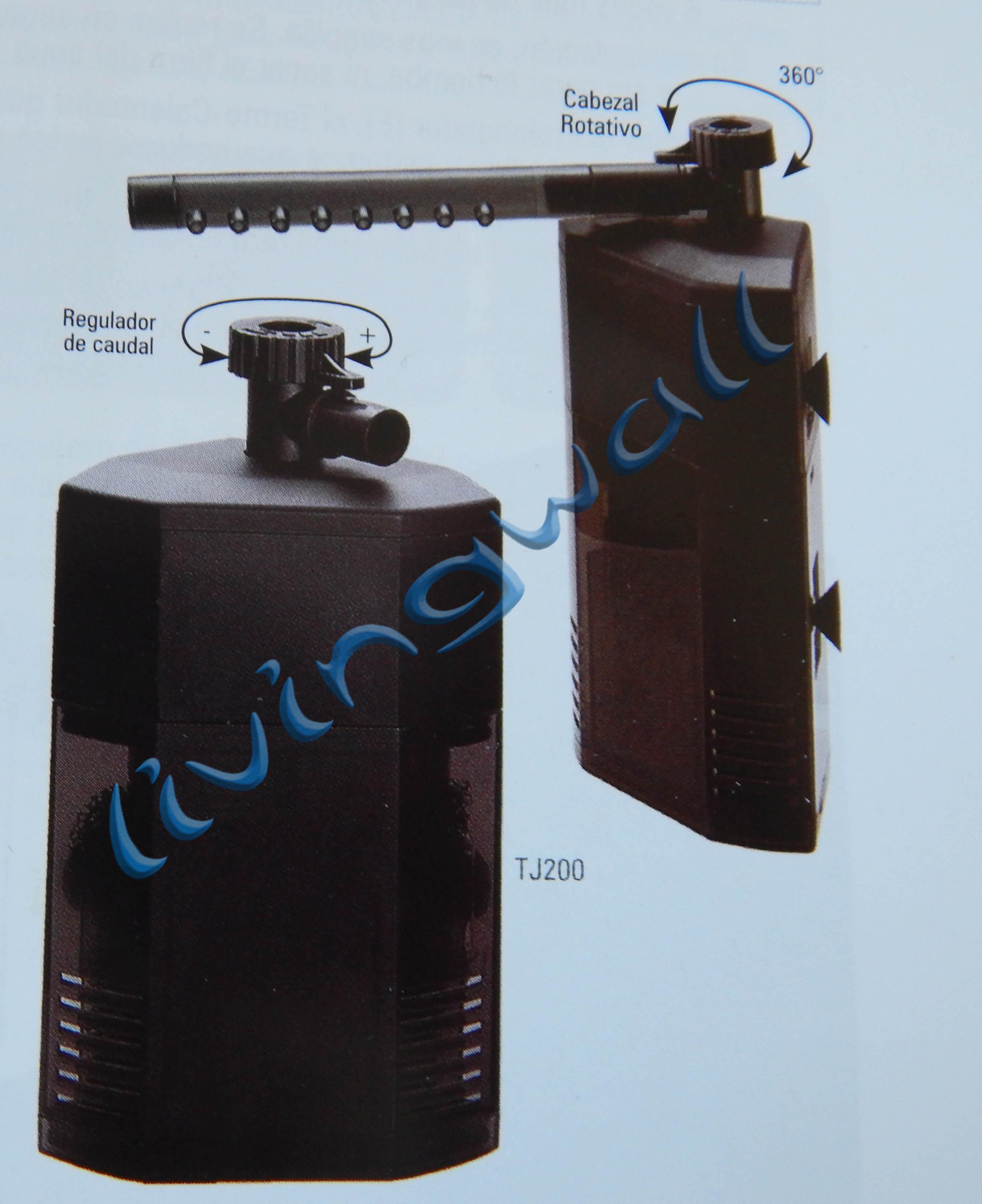 Filtro interno de esquina turbojet tj filtro esquina for Filtro acuario marino