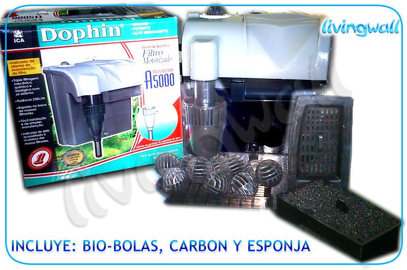 filtro acuario tipo mochila dophin a 5000 filtro interno