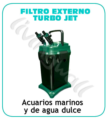 Filtro externo acuario turbojet 3368 tienda acuarios for Mantenimiento piscina agua salada