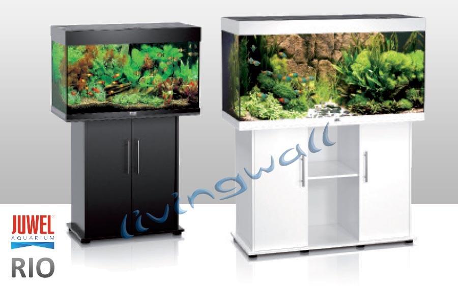 Kit aquarium juwel rio 125 l com arm rio opcional branco for Mueble acuario
