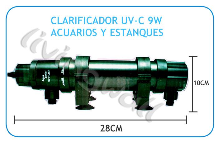 Clarificador aquazonic esterilizador uv 9w acuarios y for Valor estanque de agua 10000 litros