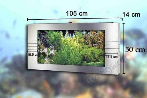 Linea livingwall hb deluxe acuario de pared y panoramico Peceras de diseno