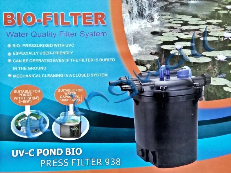 Kit pressure pond filter jebo 938 with uv 13w pump hose for Uv pond cleaner