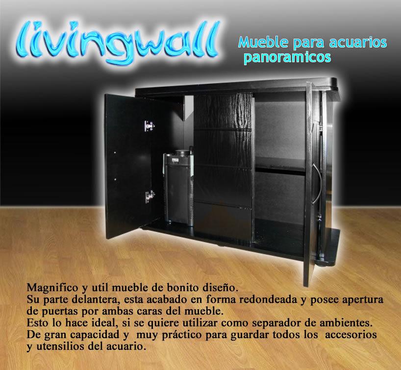 Mueble para acuarios panoramicos 100cm negro adorne su salon for Mueble acuario
