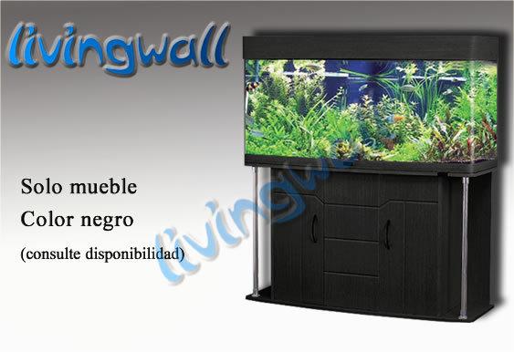 Mueble para acuarios panoramicos 127cm negro adorne su salon for Mueble acuario