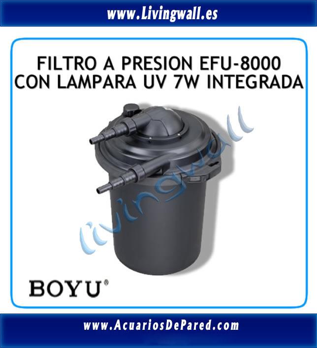 Filtro presi n estanque boyu efu 8000 uv 7w filtraci n for Filtro solar para estanque