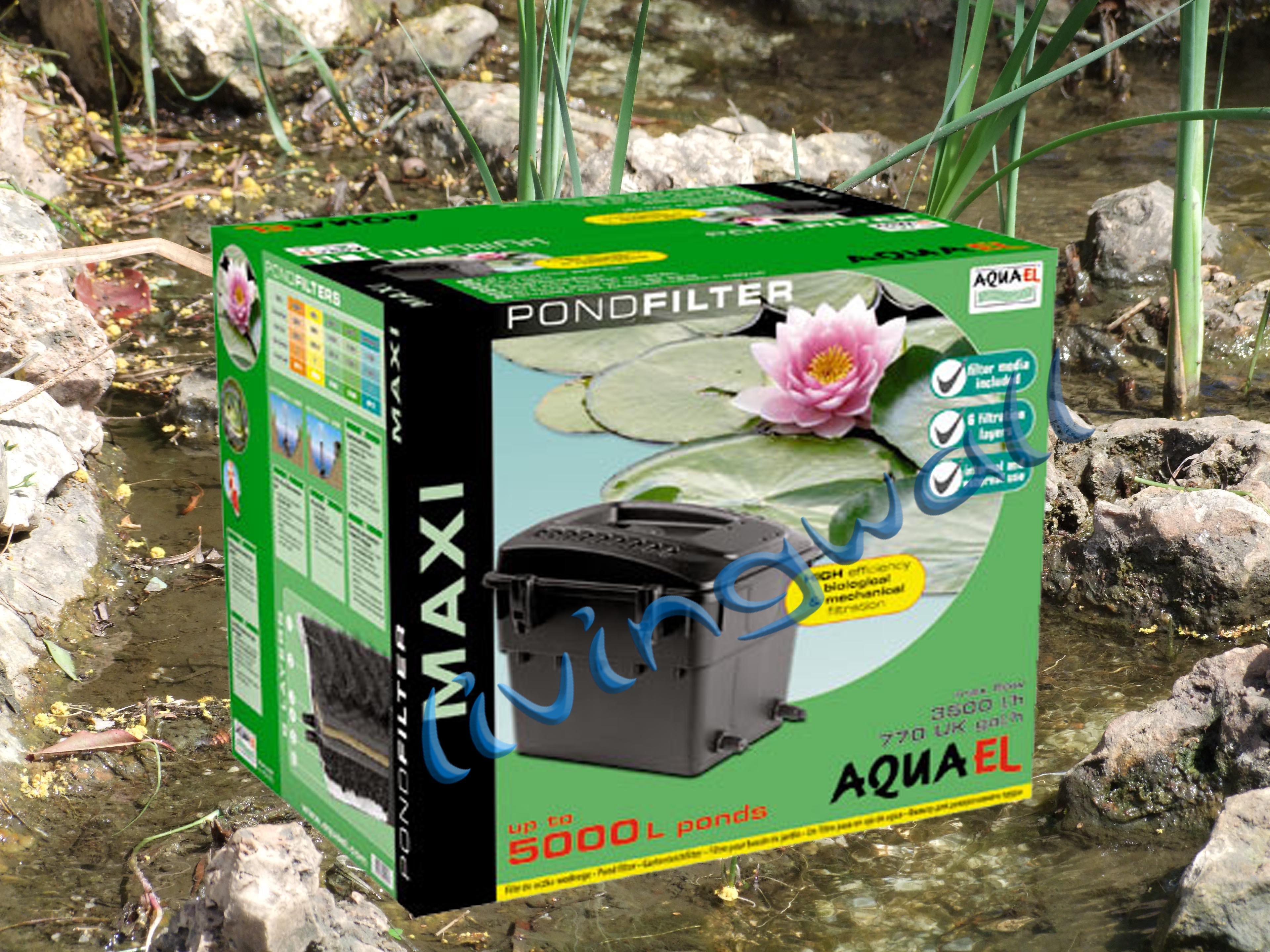Filtro de gravedad para estanque aquael maxi estanque for Bombas de agua para estanques de peces