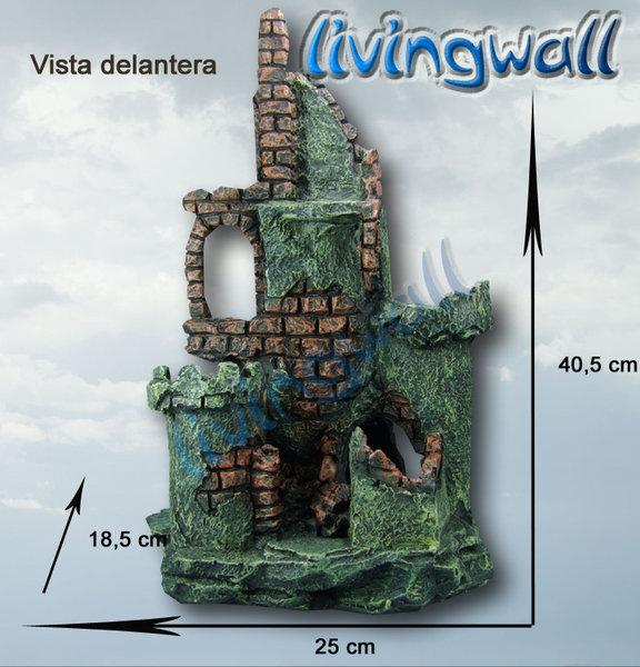 decoracin de acuarios ruinas grandes de castillo