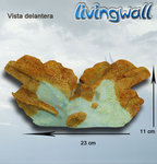 Aquarium decoration: orange-white Coral LW-KA217