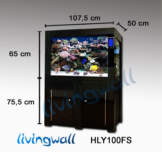 Acuario marino hly100fs negro 305 l filtracion sump panel for Acuario marino precio