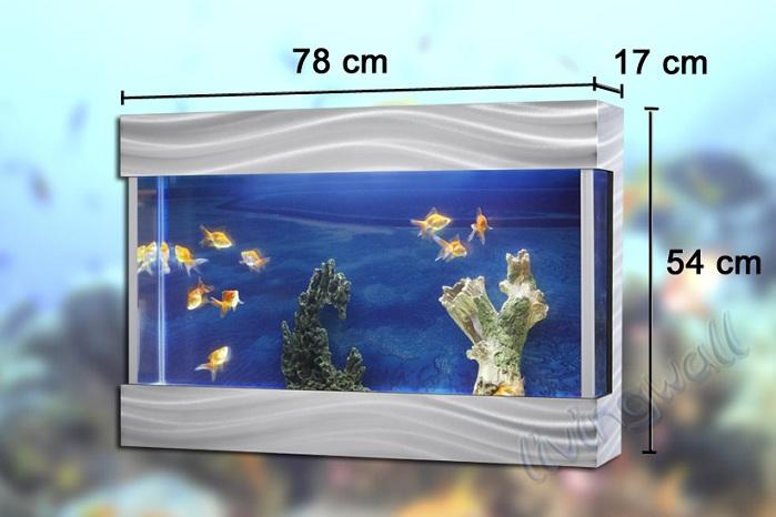 Acuario de dise o livingwall lw78 plata tendencia en for Disenos de acuarios