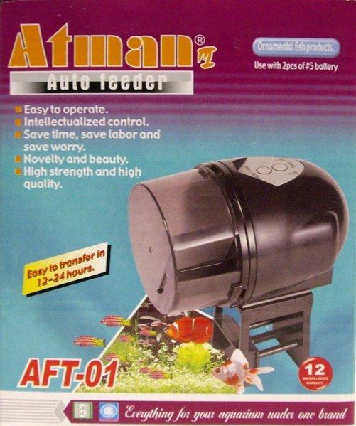 Alimentador automatico peces atman ft01 cuidado de acuario for Alimentador automatico peces