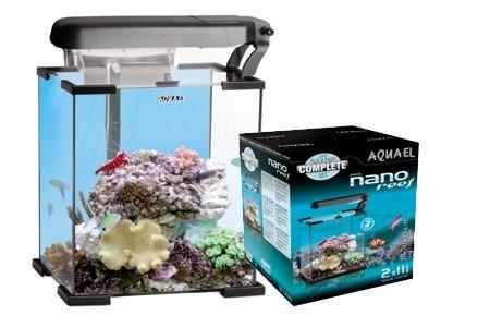 Acuario marino nano reef aquael 30l negro for Acuario marino precio