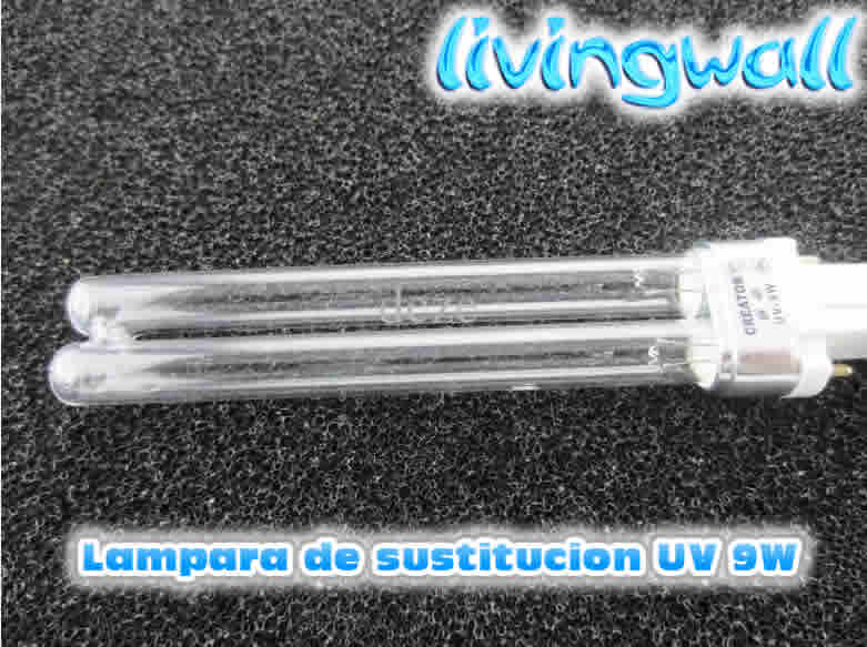Lampara uv 9w recambio filtros estanque sustitucion luz for Luz uv para estanques