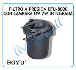Pond pressure Filter BOYU EFU-8000 + 7w UV Lamp