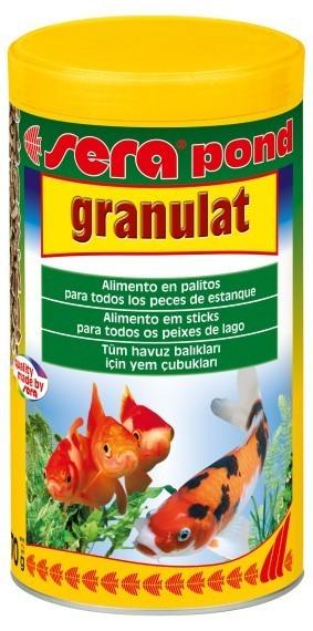 Sera pond granulat comida peces estanques livingwall for Comida peces estanque