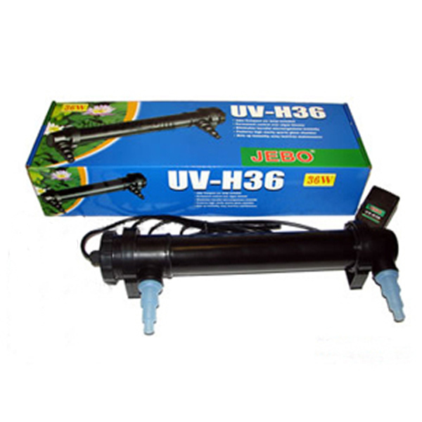 Clarificador para estanques jebo uv c 36w l mpara for Luz uv para estanques