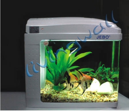 jebo aquarium kit nano qr128 silver capacity 12 liters. Black Bedroom Furniture Sets. Home Design Ideas