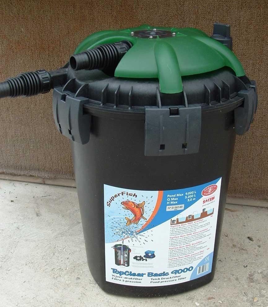 Filter pomp top clear bassic for Filtro estanque