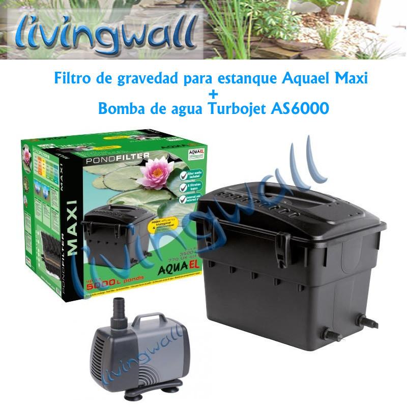 Filtro de gravedad para estanque aquael maxi bomba for Filtro para estanque