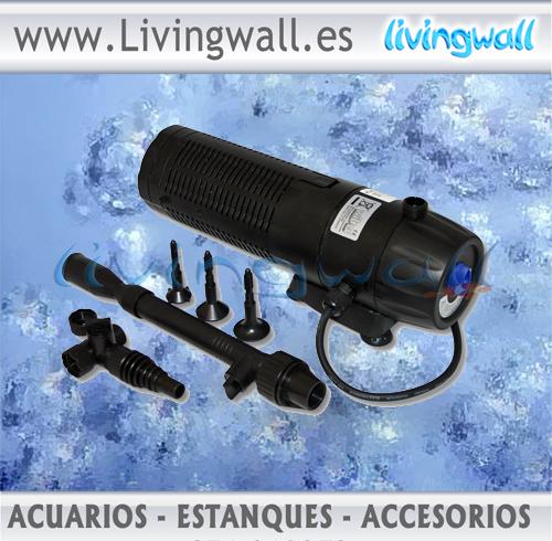 Filtro subacu tico para estanques cup 129 con for Lampara uv estanque