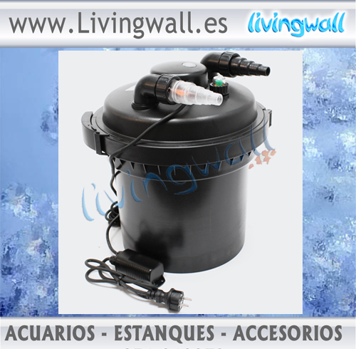 Filtro presi n para estanques sunsun cpf 280 con l mpara for Filtro agua estanque