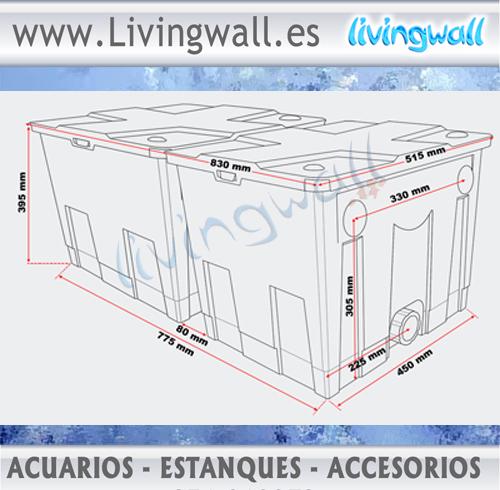 Filtro estanque sunsun cbf 350b 2 cajas estanques hasta for Filtro estanque koi