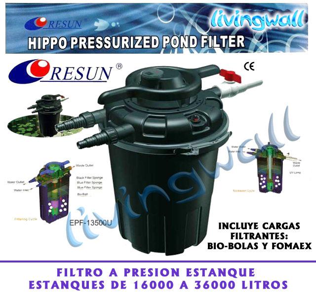 Filtro a presi n estanques hippo13500 sistema de contralavado for Filtro natural para estanque