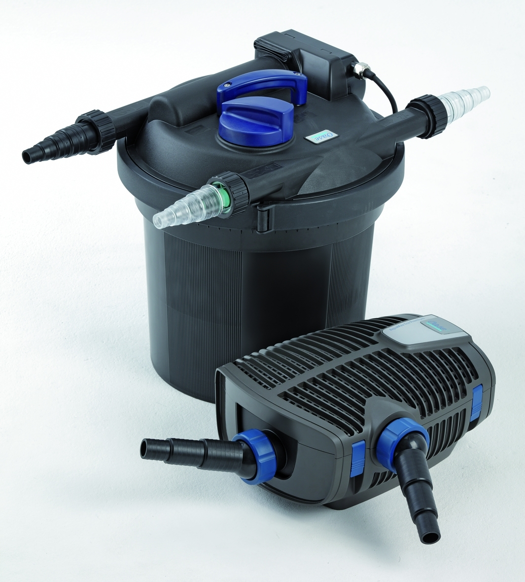Oase set filtoclear pressure pond filter pump uv c for Koi filter set