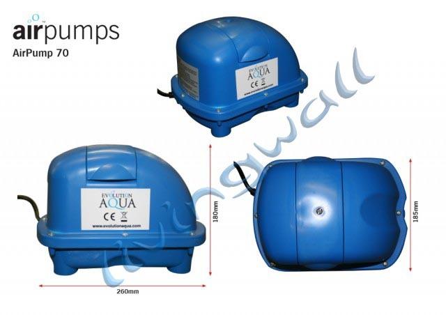 Evolution Aqua Airtech 70 Litros Bomba De Aire Tubo Colector airstones /& Estanque