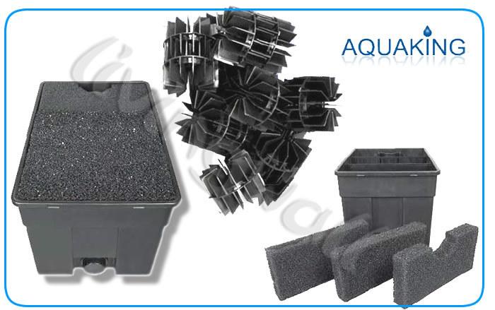 Filtro de gravedad caja estanques 210l l mpara uv 36w for Material para estanques