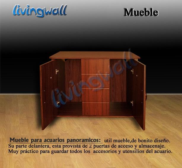 Mueble para acuarios panoramicos 100cm cerrezo adorne su - Pecera con mueble ...